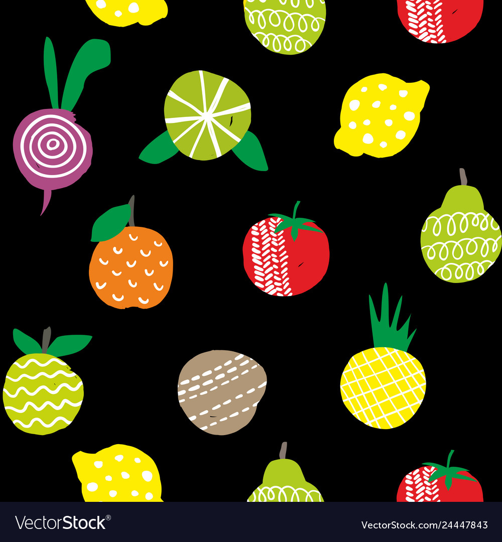 Seamless wallpaper of healthy food isolated on