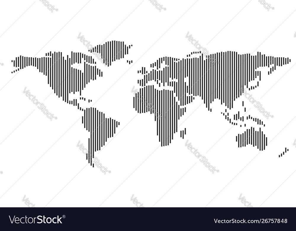 Abstract world map with continents planet