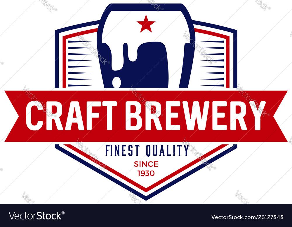 Craft brewery logo symbol icon