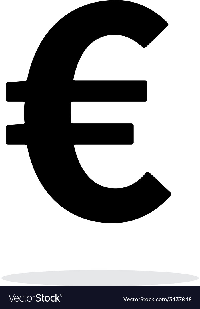 Euro icon on white background vector image