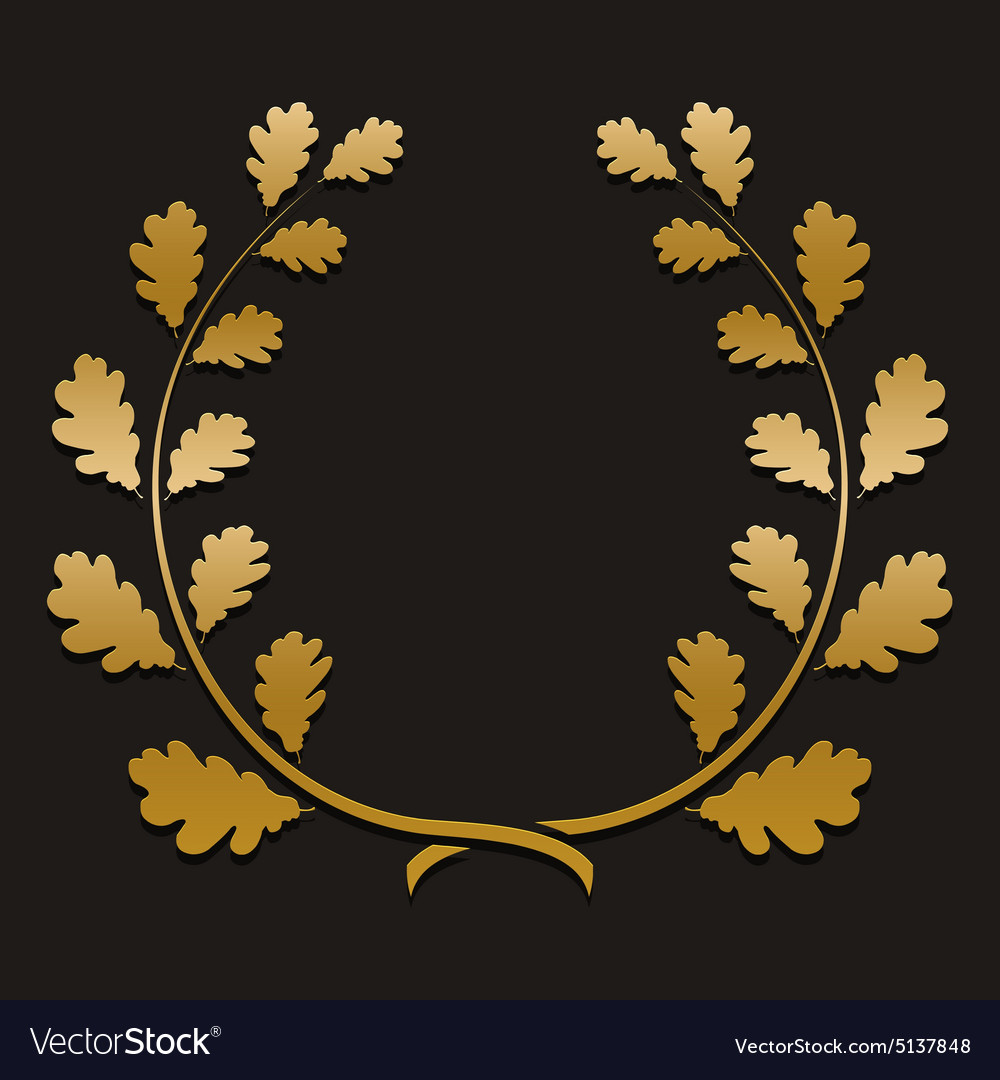 Gold laurel wreath with sample text