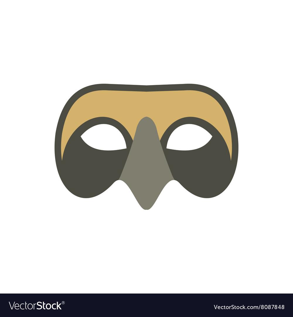 Mens Venetian mask icon flat style