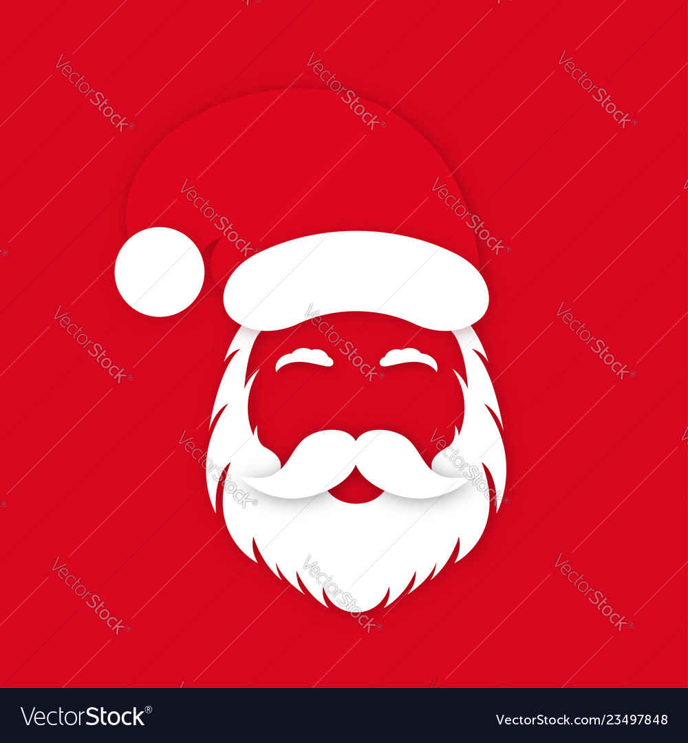 Santa claus in hat on red background santa clauss