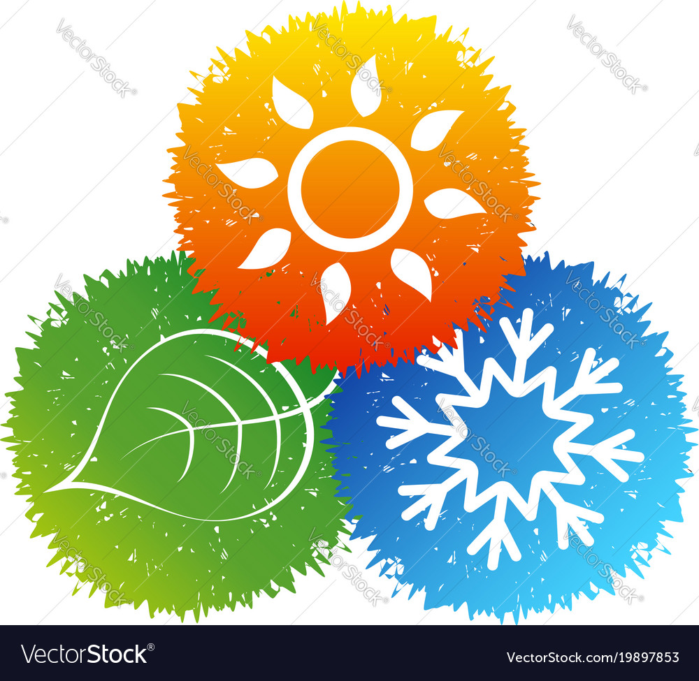 Air conditioning bio symbol vector image