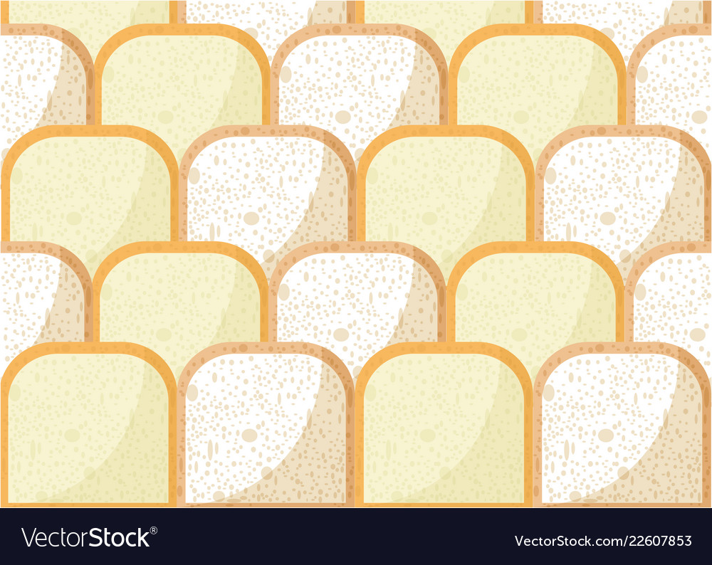 Bread pieces pattern with whole wheat bread rye