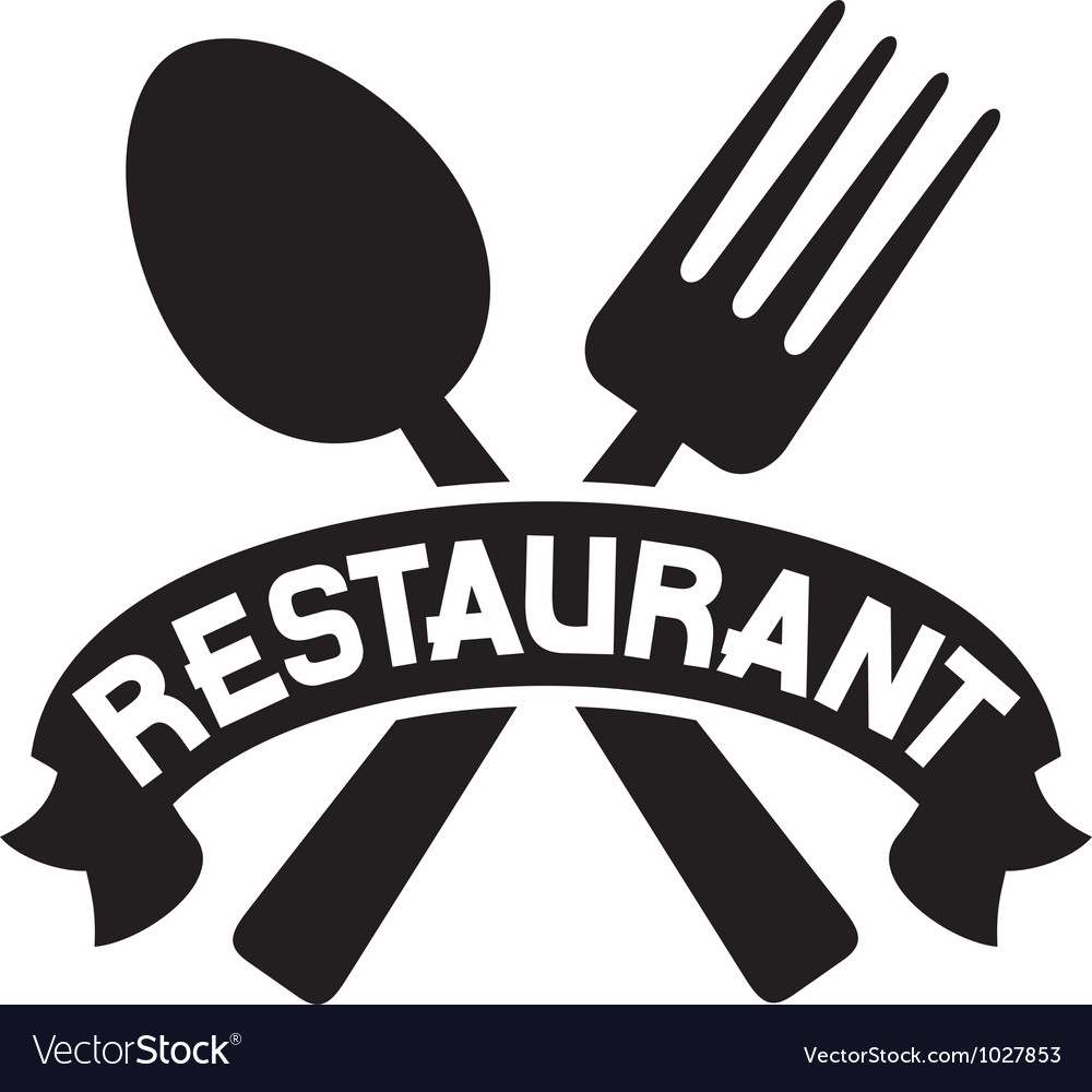 Crossed Fork And Spoon Restaurant Symbol Vector Image