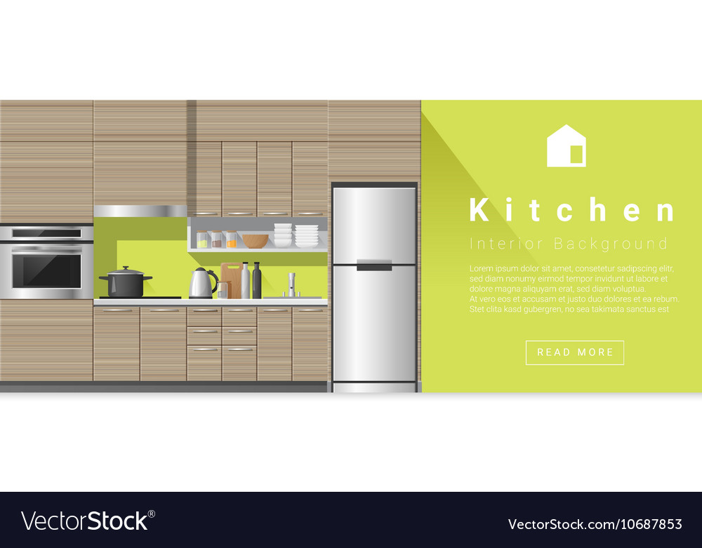 Interior design Modern kitchen background 3