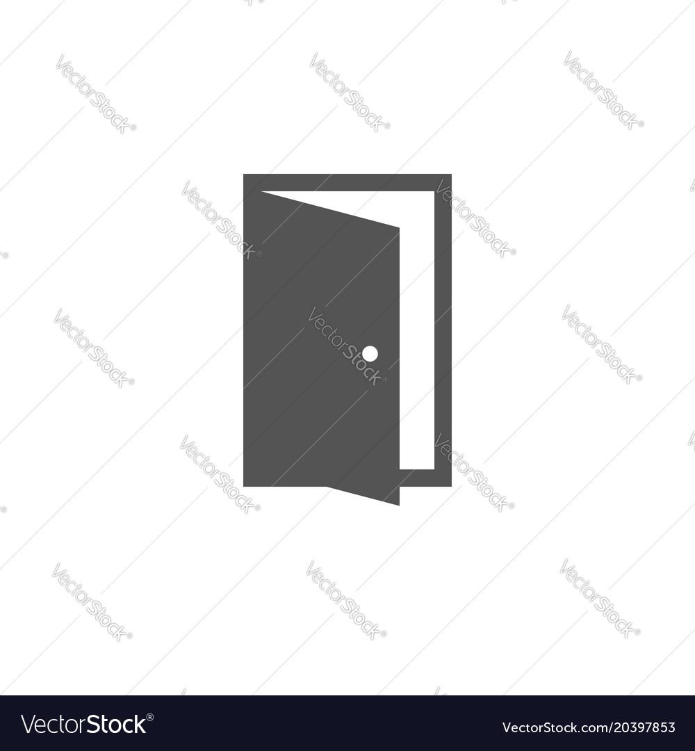 Open door icon in trendy flat style symbol for vector image