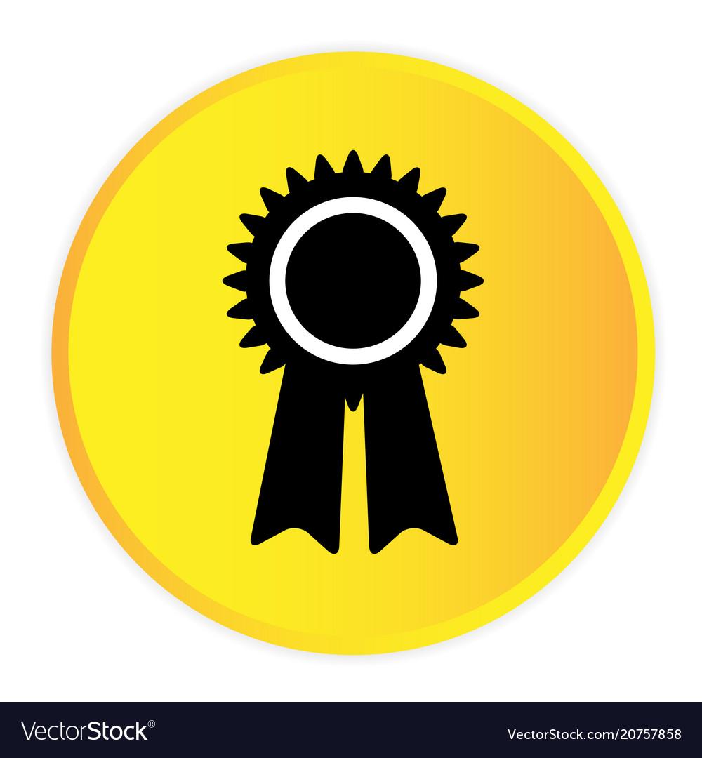 Award icon yellow circle frame background i