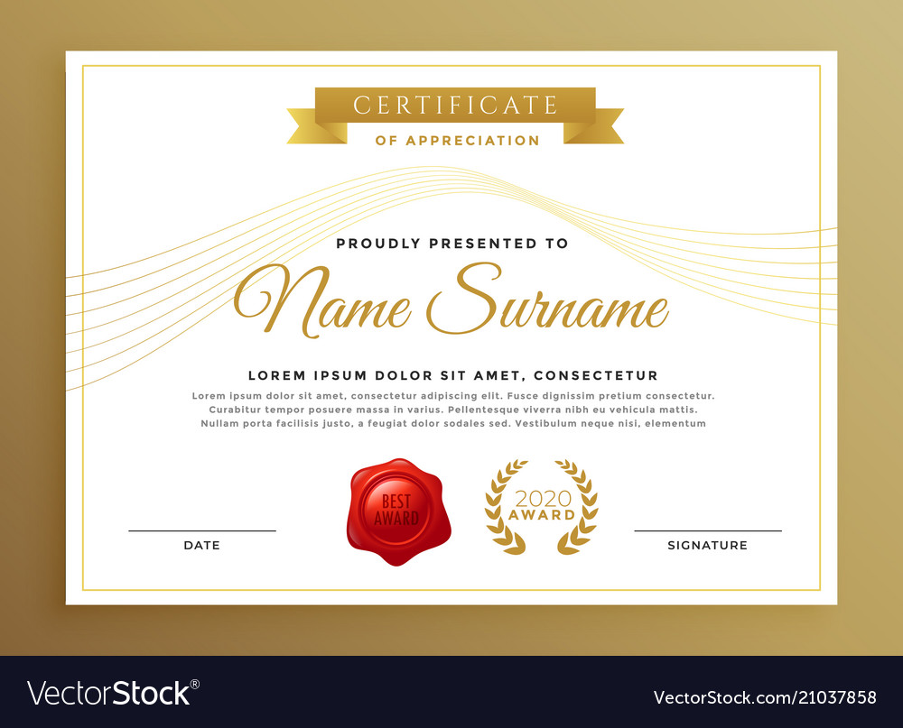 clean modern certificate design royalty free vector image