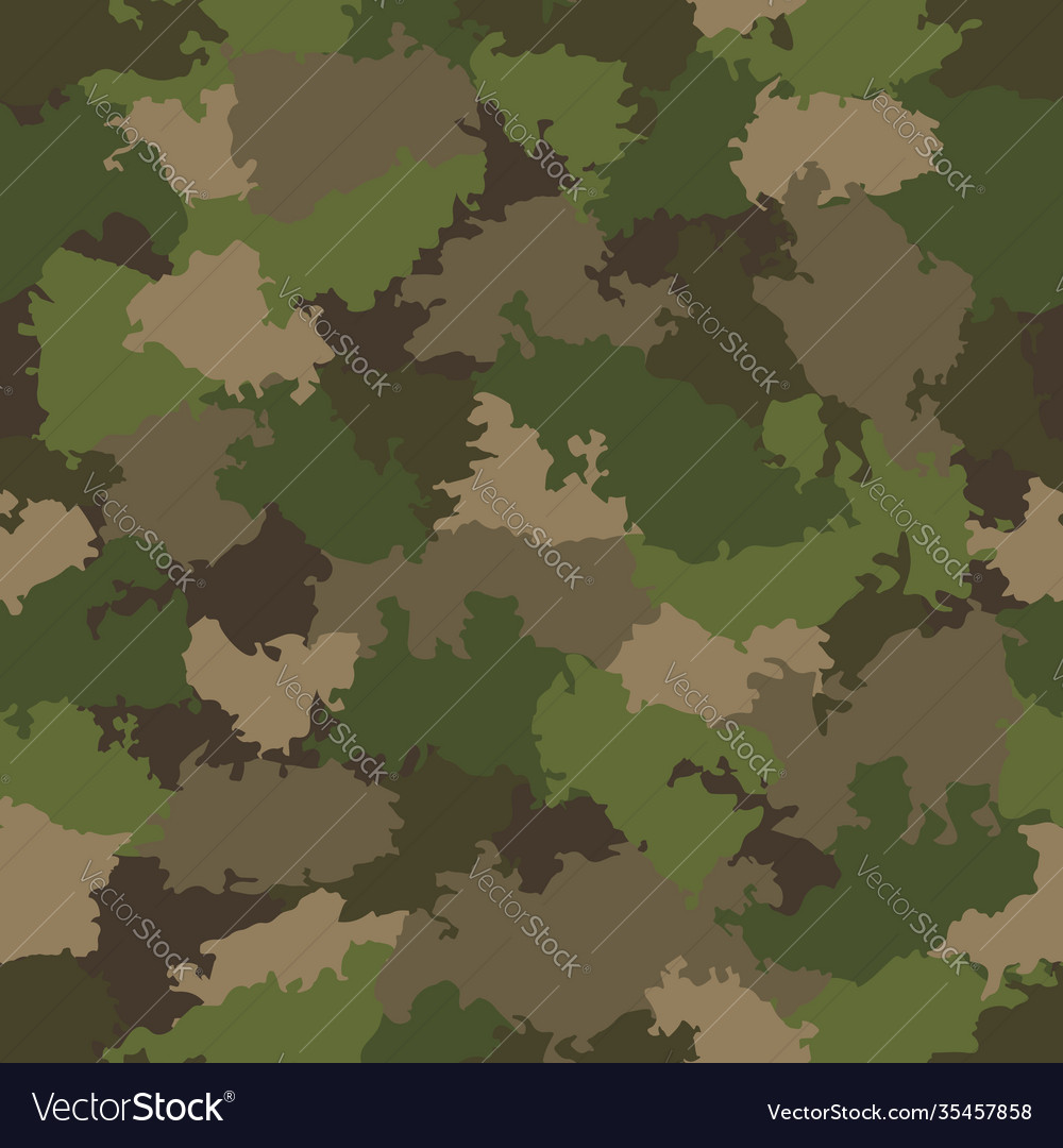Green and brown camouflage seamless pattern