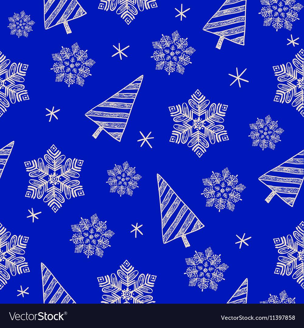 Hand drawn seamless Christmas pattern