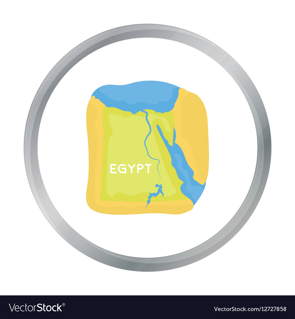 Territory of Egypt icon in cartoon style isolated