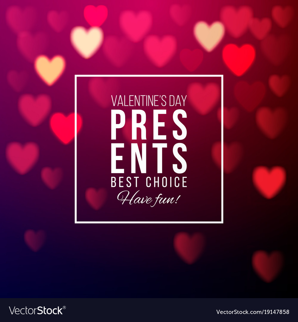 Valentines Day Presents Background Royalty Free Vector Image