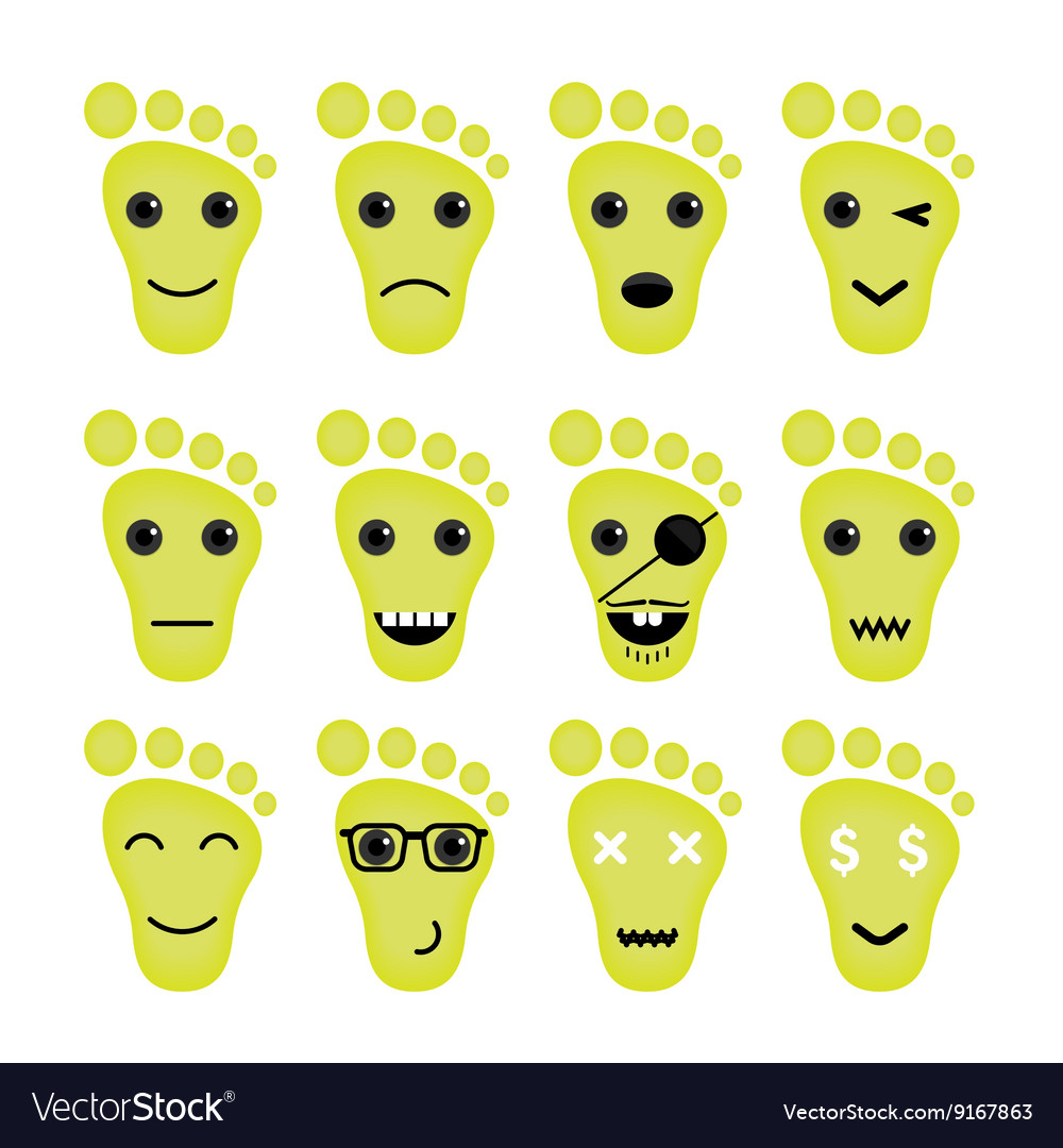 Feet Icon Logo Foot Icon Logo Funny Icon Logo Face