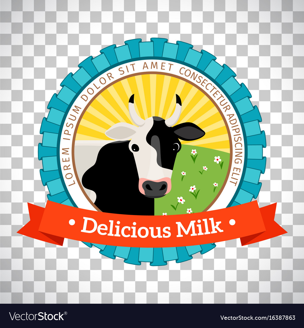 Fresh milk logo with cow