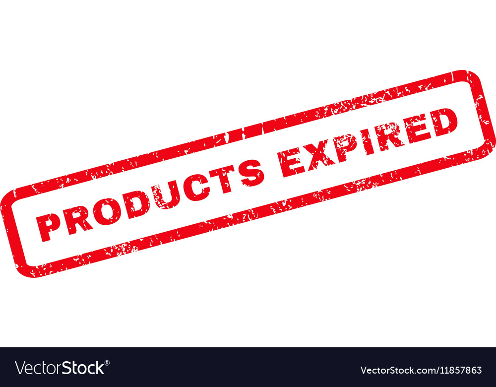 Products Expired Rubber Stamp