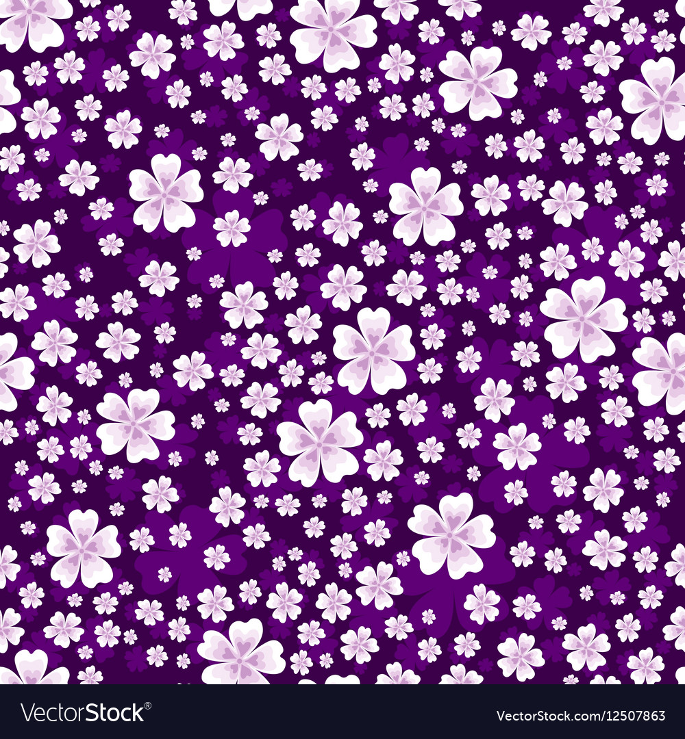 Seamless floral pattern with white colored flowers seamless floral pattern with white colored flowers vector image mightylinksfo