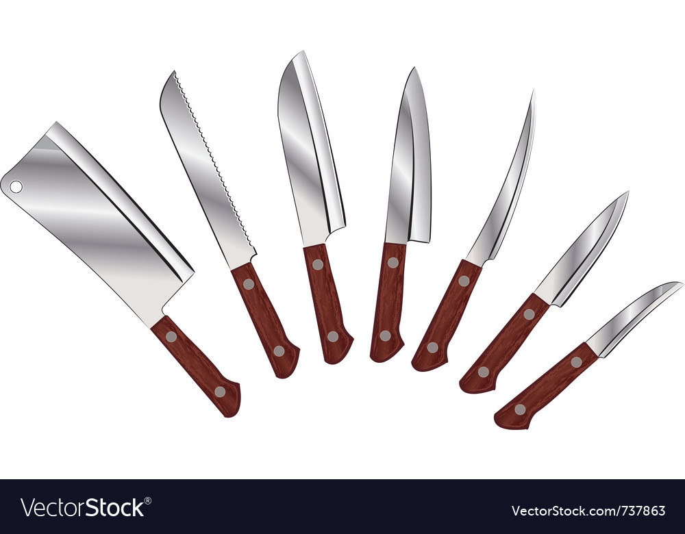 Set of knives vector image