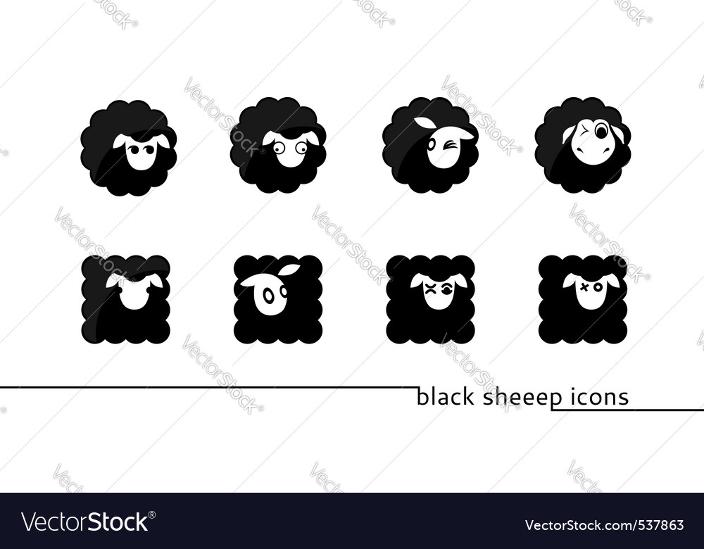 Sheep icons vector image