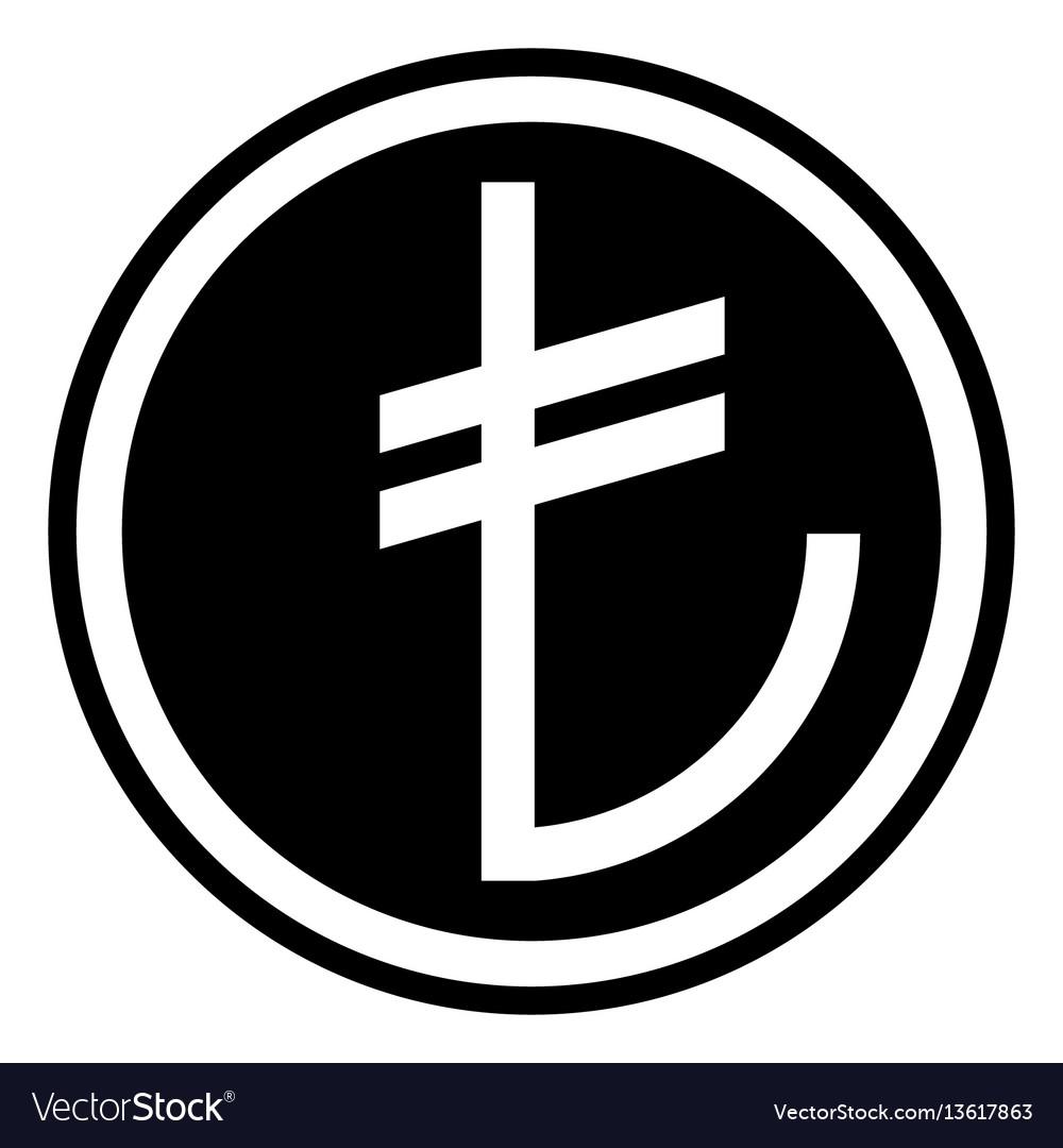 Sign of the turkish currency turkish lira