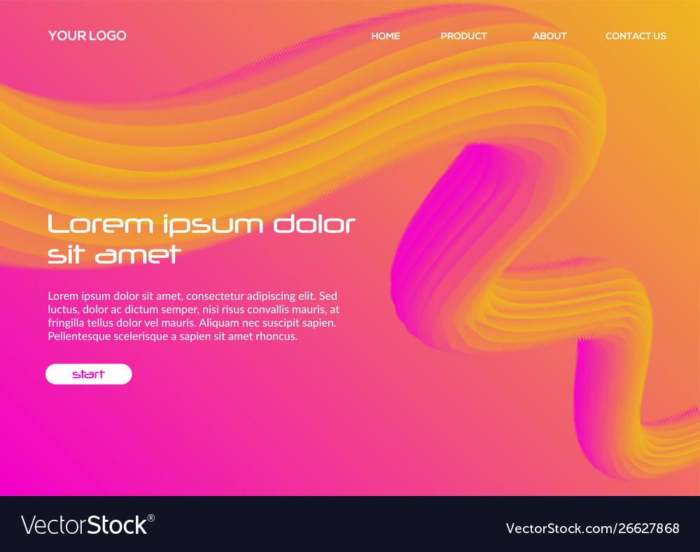 Black 3d fluid background template graphic design