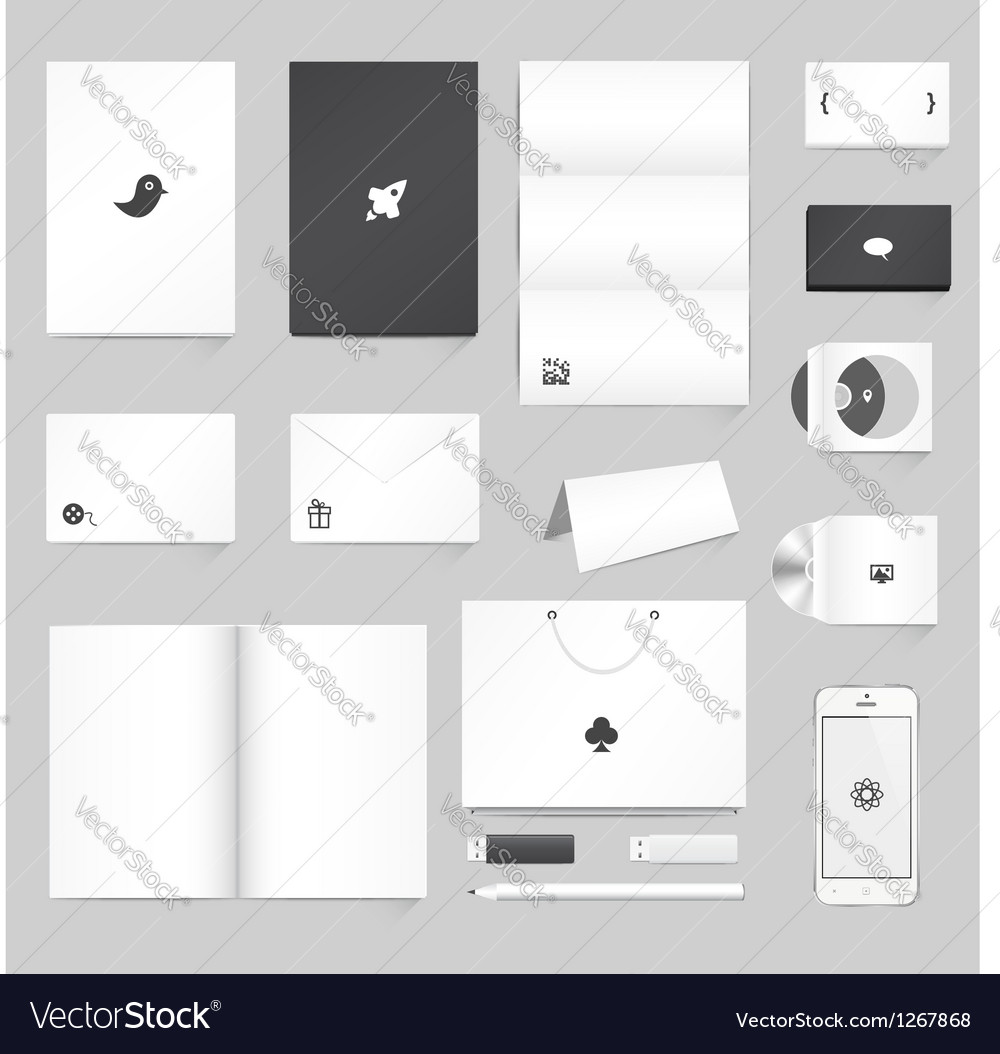 Corporate Identity Mockup vector image