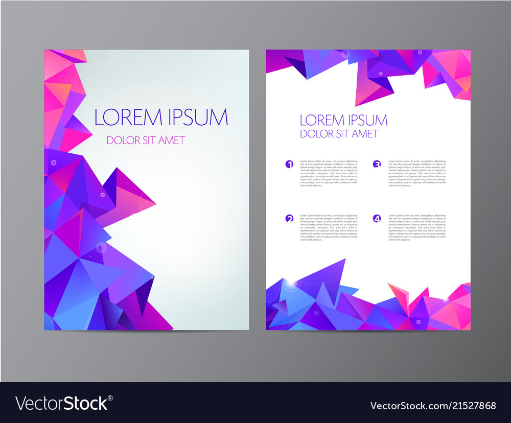 Flyer purple brochure abstract design 2