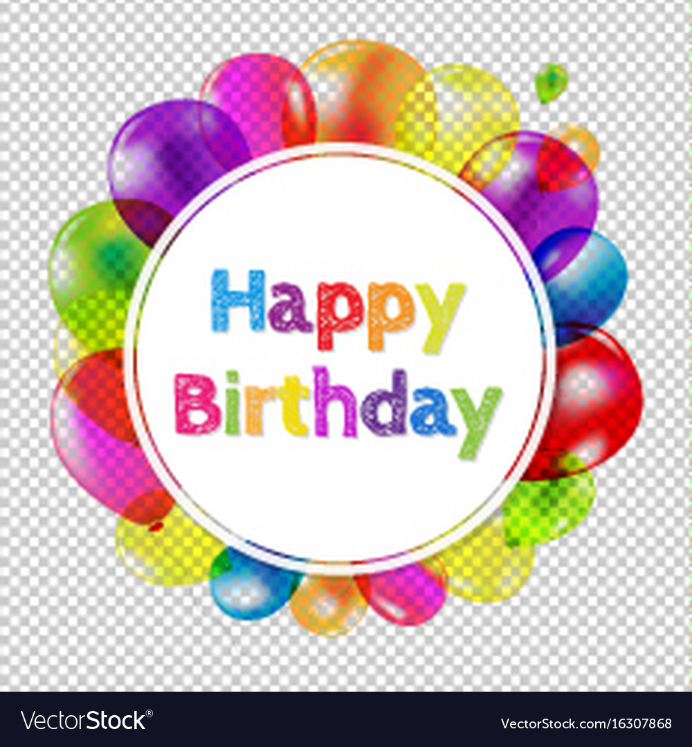 happy birthday banner with balloons royalty free vector
