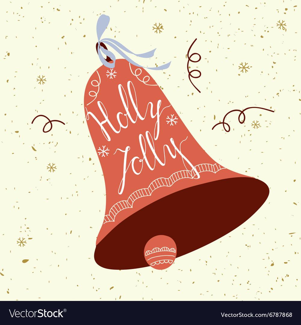 Holly Jolly card vector image