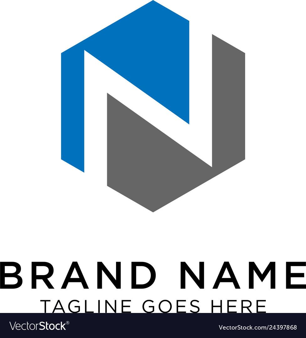 Initial n logo design inspiration