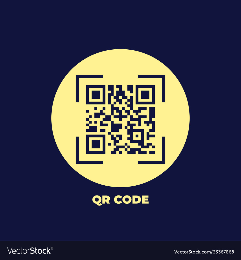 Qr code icon in trendy flat style isolated on