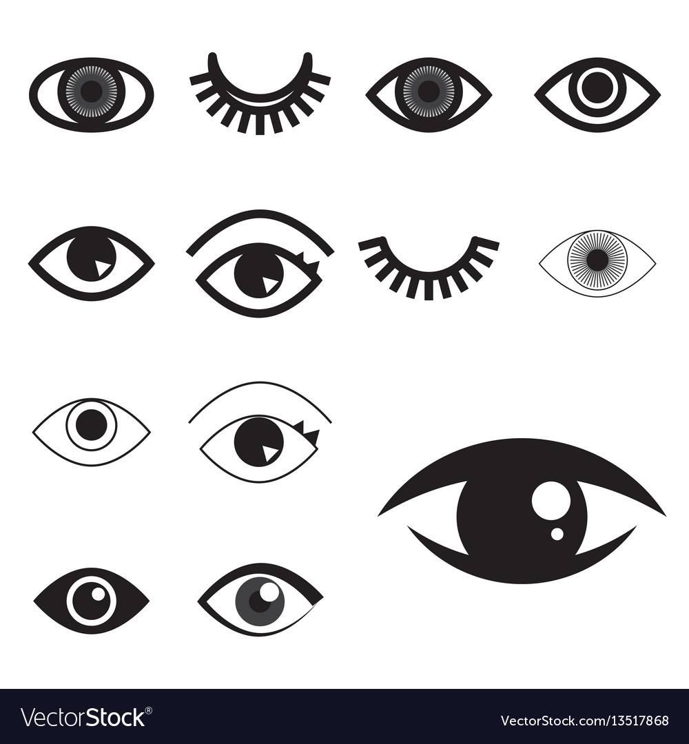 Simple eye icon or logo isolated