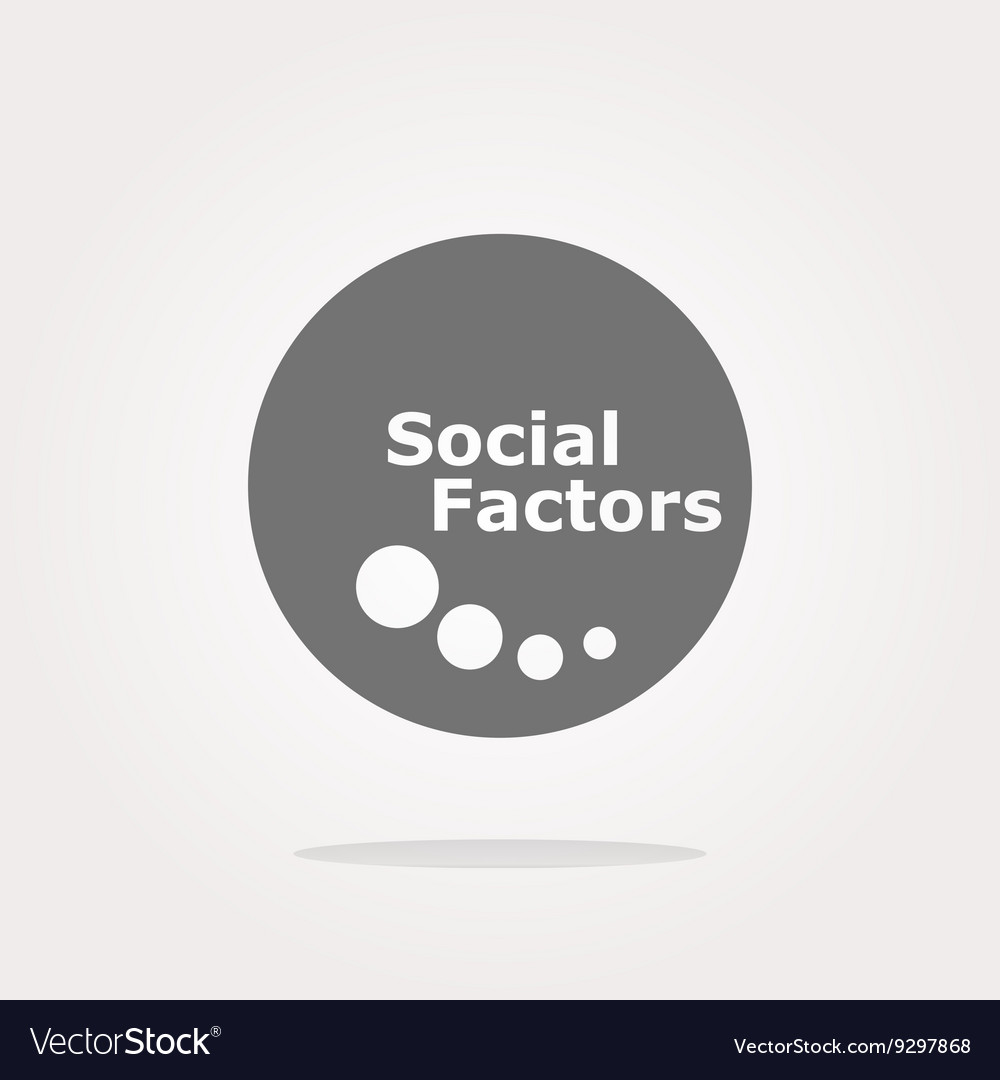 Social factors web button icon isolated on vector image