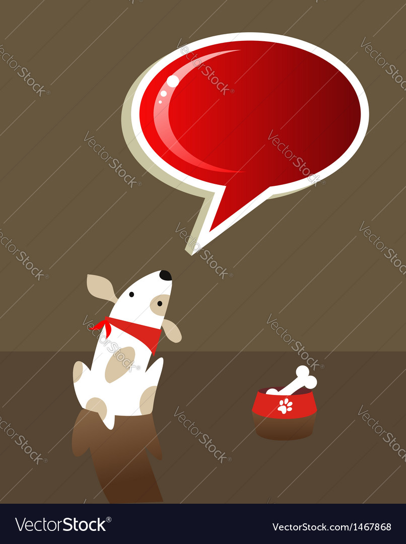 Speech bubble and dog vector image