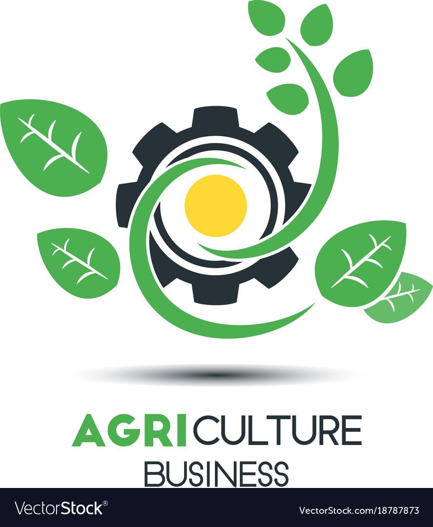 Agriculture business logo template green leaf vector image fbccfo Images