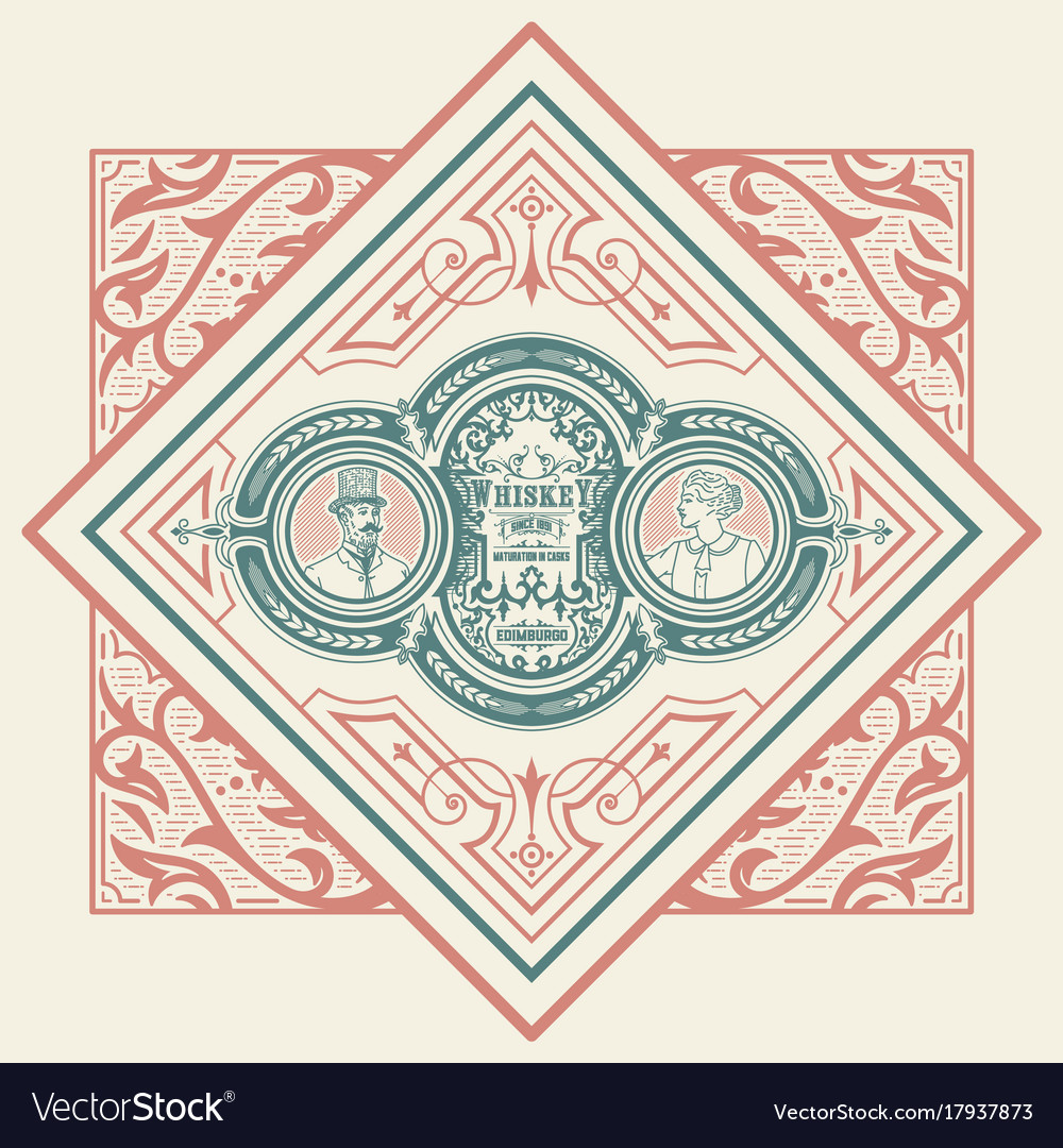 Card victorian style