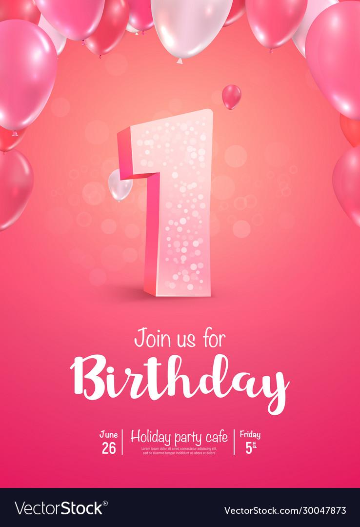 Celebrating 1 years birthday 3d