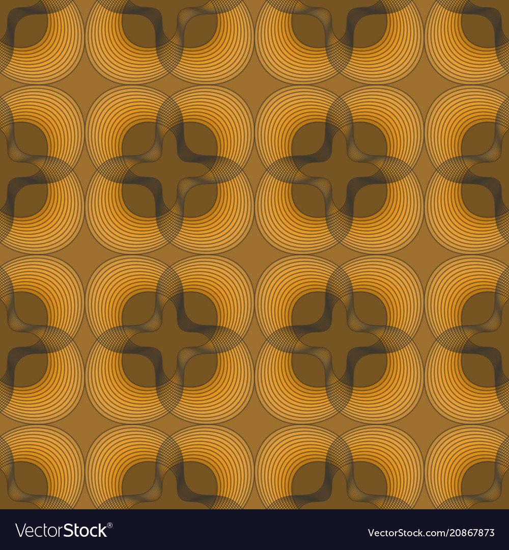 Classic outline black patterns on gold background
