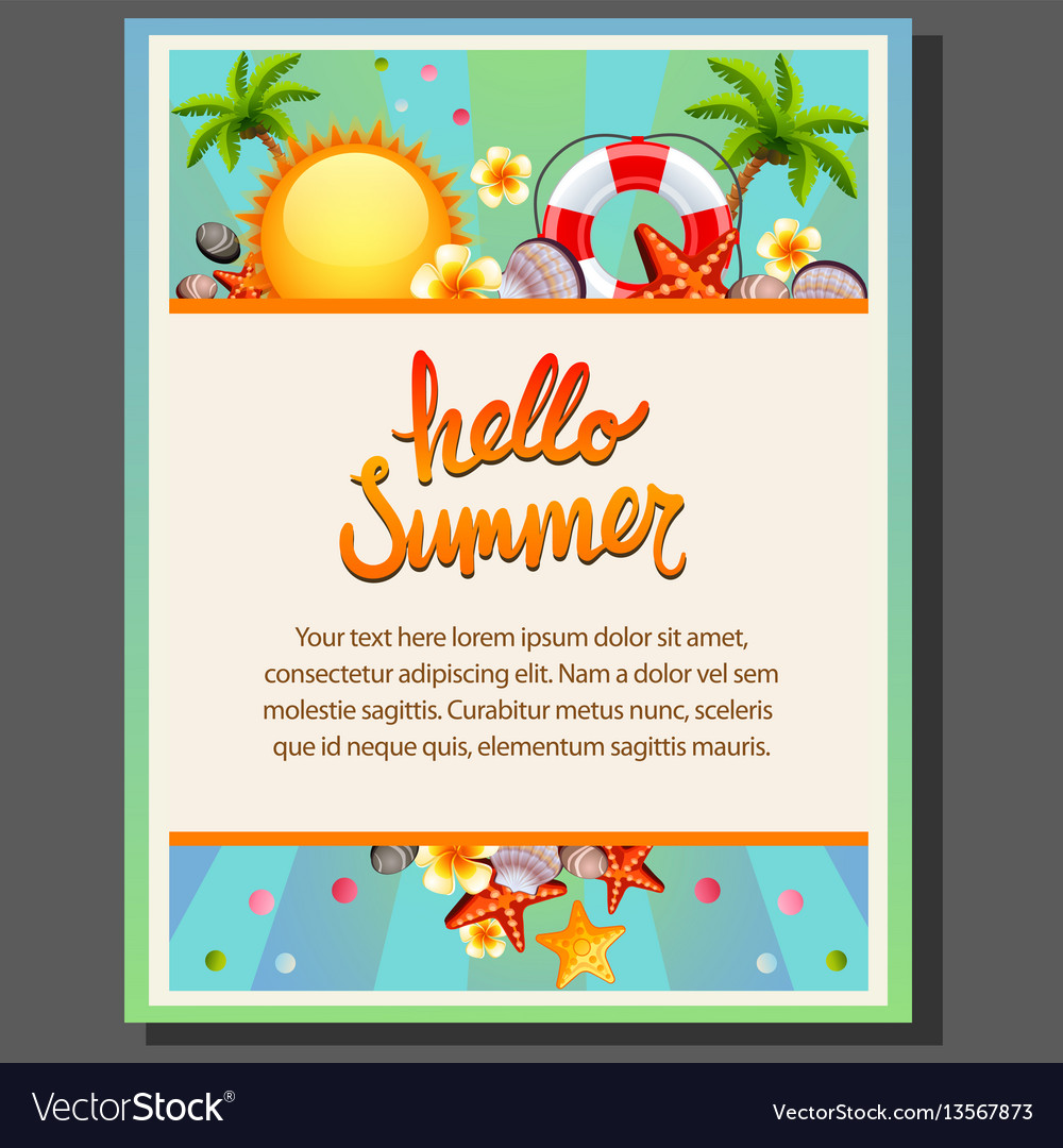 Happy summer poster