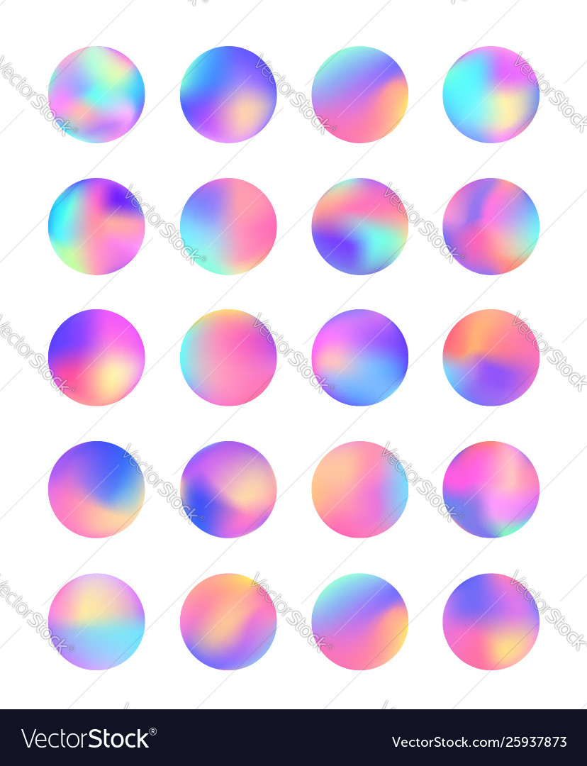 Rounded holographic foil gradient for button