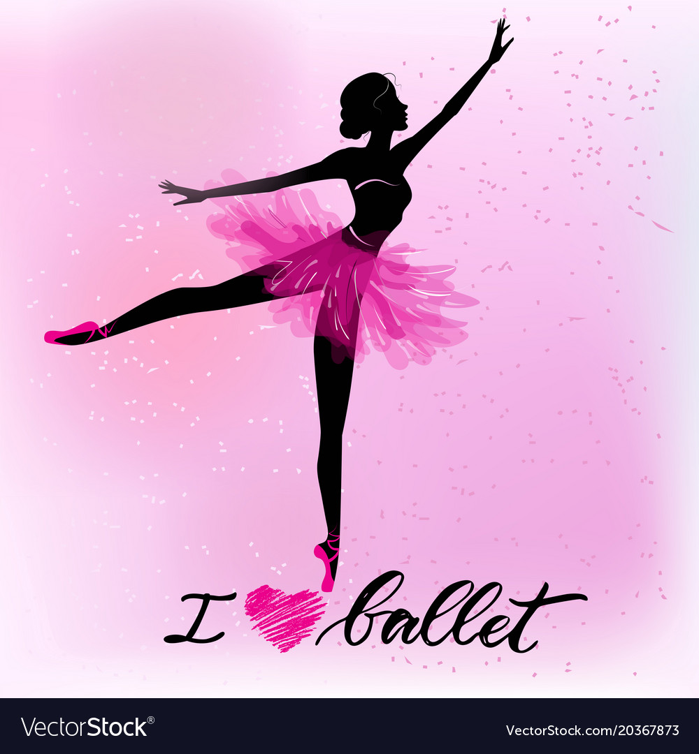 Silhouette of young ballerina