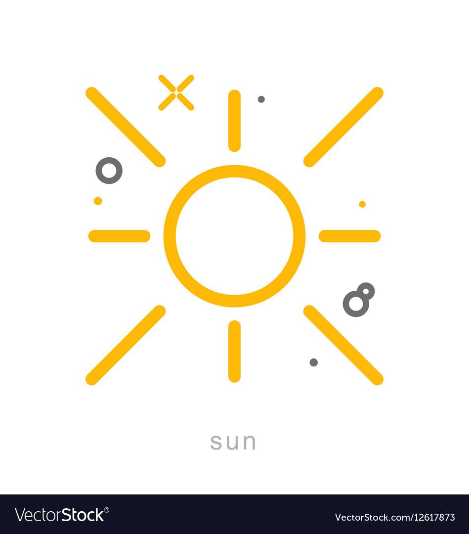 Thin line icons Sun
