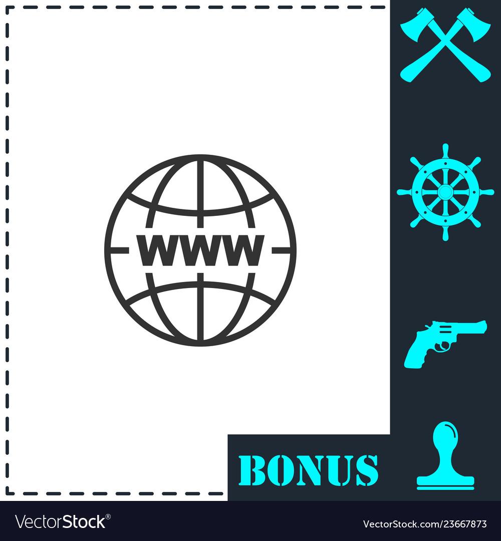 World wide web icon flat