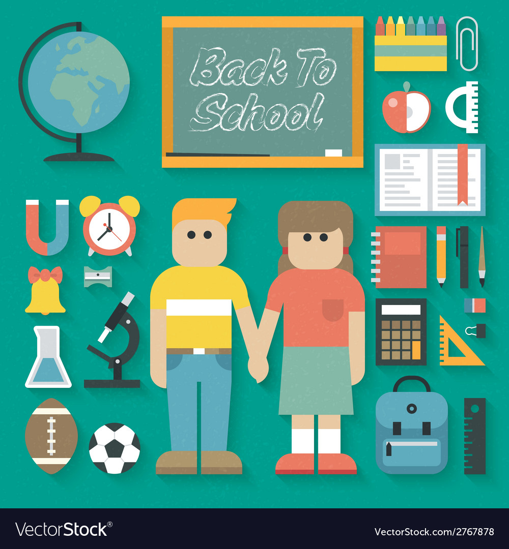 Back to School Flat Icons Set