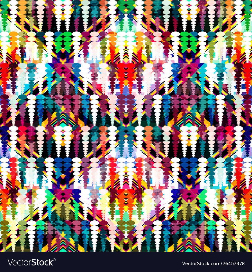 Bright abstract geometric seamless pattern in