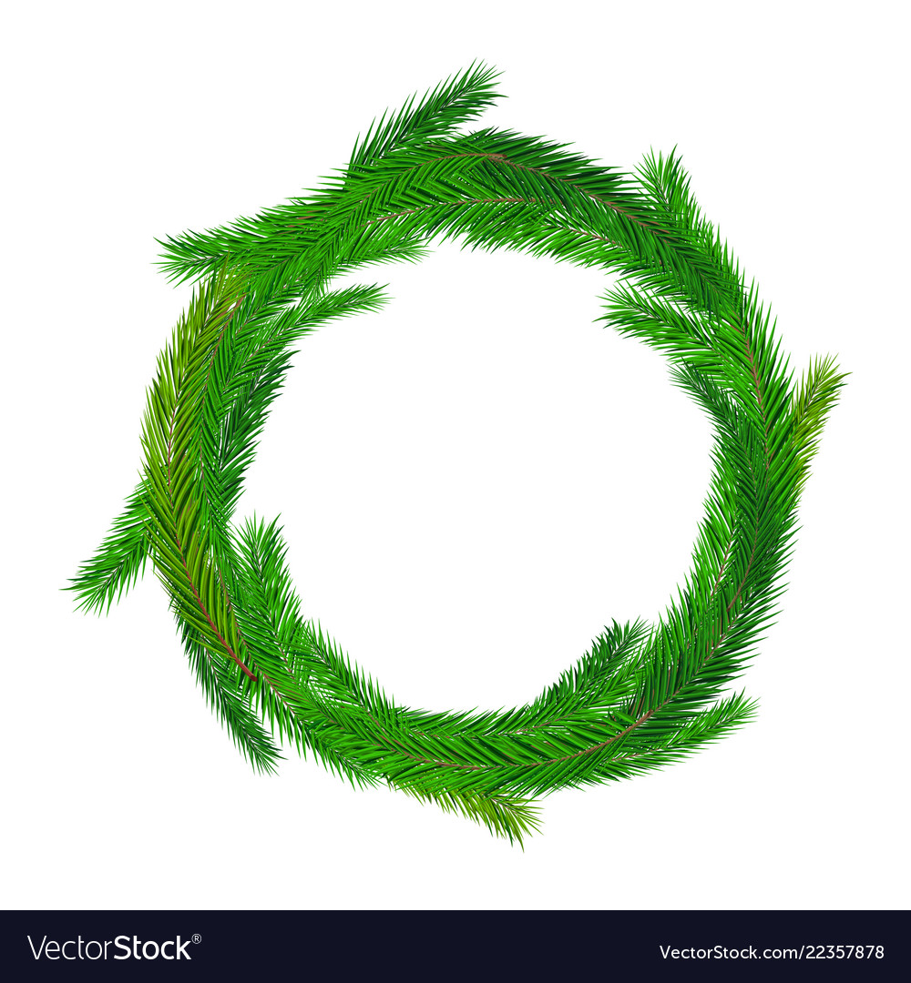 Christmas empty wreath