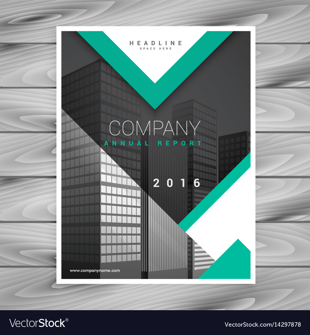 Company Brochure Flyer Template With Geometric Vector Image - Company flyer template