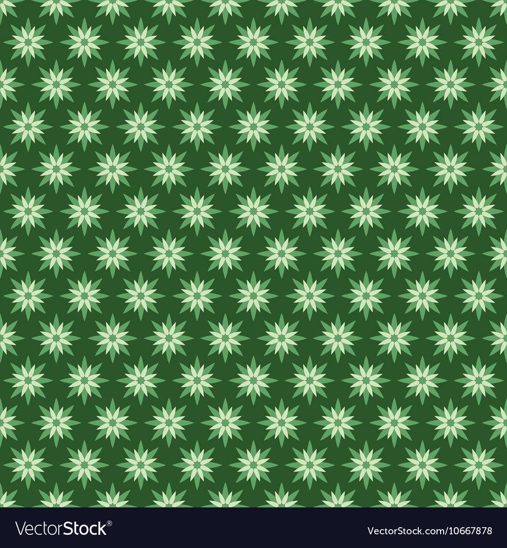Creative green flora pattern background vector image