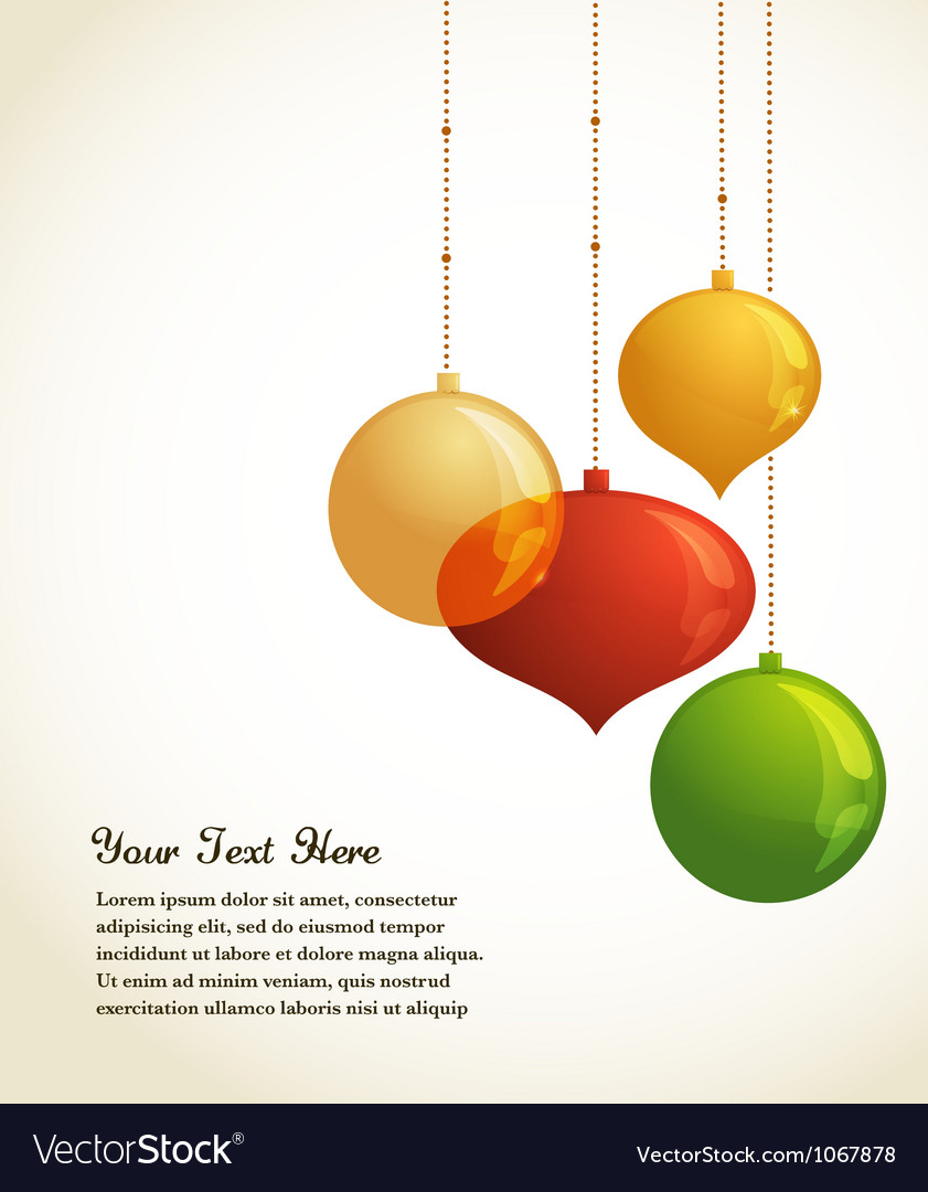 Elegant Christmas background with lights and xmas